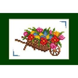 Vyšívací sada - Velikonoční přání - Velikonoc