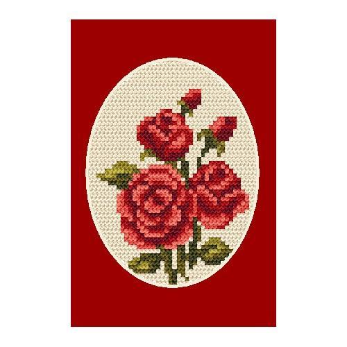 ZU 4804-02 Vyšívací sada - Pohlednice - Růže