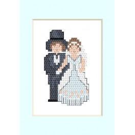 Vyšívací sada - Svatební přání - Novomanželé