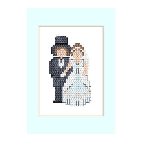ZU 2104 Vyšívací sada - Svatební přání - Novomanželé