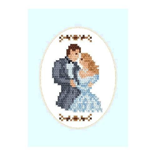 ZU 2000 Vyšívací sada - Svatební přání - Novomanželé