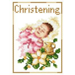 Vyšívací sada - Přání - Památka křtu - Holčička