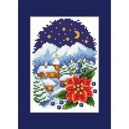 Vyšívací sada - Přání - Krajinka s betlémskou hvězdou