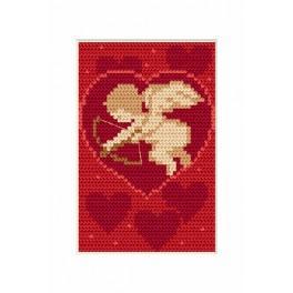 Vyšívací sada - Přání - Valentýnky - Amor