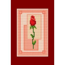 Vyšívací sada - Přání - Valentýnky - Růže