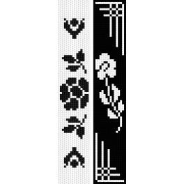 Vyšívací sada - Záložky - Černé květy