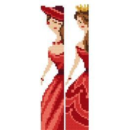 Vyšívací sada - Záložky - Elegantní ženy