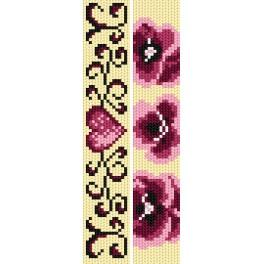 Vyšívací sada - Záložky - Růžová láska