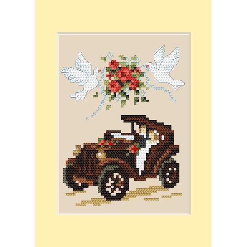 ZU 4459-01 Vyšívací sada - Svatební přání - Automobil