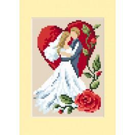 Vyšívací sada - Svatební přání - Zamilování