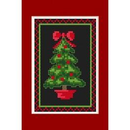 Vyšívací sada - Vánoční přání - Svítící stromeček