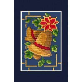 Vyšívací sada - Vánoční přání - Svítící zvonečky