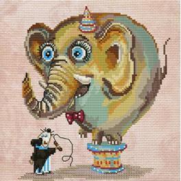 Circus elephant - Vyšívací sada a korálky