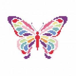 Vyšívací sada s korálky - Motýl