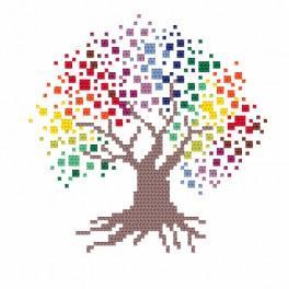 ZI 8707 Vyšívací sada s korálky - Barevný strom