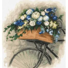 Sada s mulinkou a potiskem - Kolo s květinami