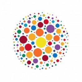 Vyšívací sada s mulinkou a podiskem - Bohatství barev