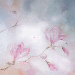 Aida z podmalowanym tłem - Kwitnąca magnolia