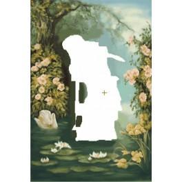 Rusalka sbírá vodní lilie - Aida s pozadím