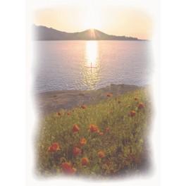 Západ slunce nad jezerem - Aida s pozadím