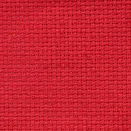 AIDA 54/10cm (14 ct) - arch 30x40 cm červená