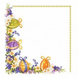 ZU 8352 Vyšívací sada - Velikonoční vajíčka s jarními květy