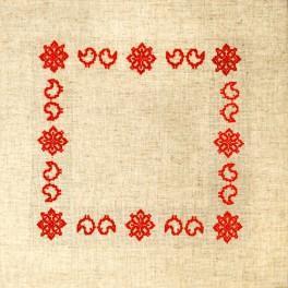 zestaw z muliną i serwetką - Serwetka z Podlasia II