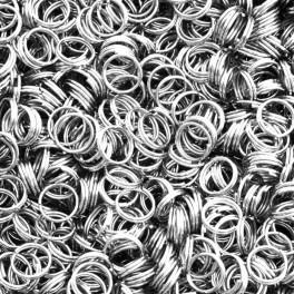 Pružné podložky, barva stříbro 7mm