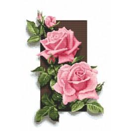 Předtištěná kanava - Růže 3D