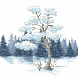 Předtištěná kanava - Borovice v zimě