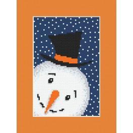 Předloha - Karta - Hravý sněhuláček