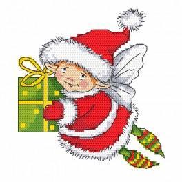 Předtištěná aida - Elf Mikuláš