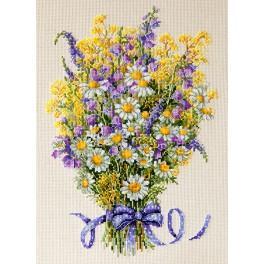 Vyšívací sada - Letní květy