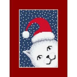Vyšívací sada - Přání - Hravé kotě