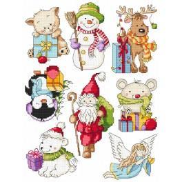 Vyšívací sada - Vánoční vzory