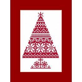 Vyšívací sada - Přání - Tradiční vánoční stromeček