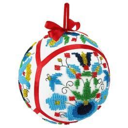 Sada s korálky - Vánoční koula - Etnicka II