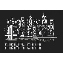 Vyšívací sada a korálky - Noc v New Yorku