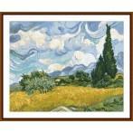 GC 8884 Předloha - Pšeničné pole s cypřiši - V. van Gogh