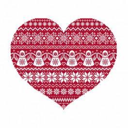 Předloha on line - Skandinavské srdce