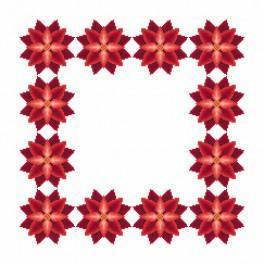 W 8864-01 Předloha on line - Ubrousek- Stylizovaná vánoční hvězda I
