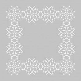 Vyšívací sada s mulinkou a ubrouskem - Ubrousek- Stylizovaná vánoční hvězda II