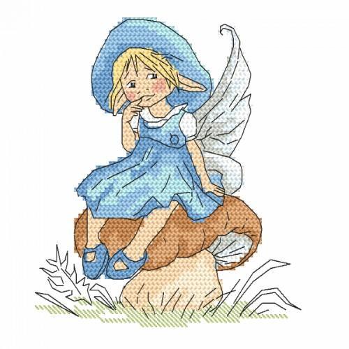 GC 10092 Předloha - Malá elfka na hříbku
