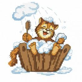 Předloha - Kocourek v koupeli
