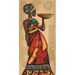 Sada s předtisky a mulinky - Africký půvab