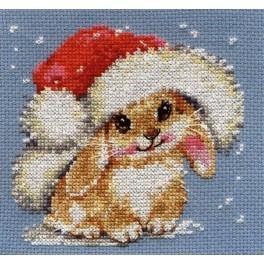 Vyšívací sada - Zimní králíček