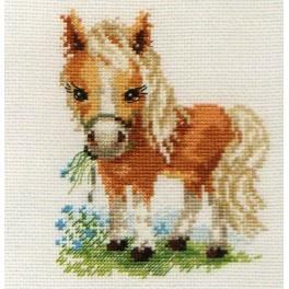 ALI 0-114 Vyšívací sada - Kůň s bílou hřívou