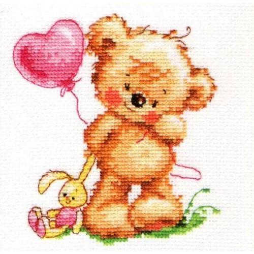 ALI 0-70 Vyšívací sada - Kouzelný medvídek