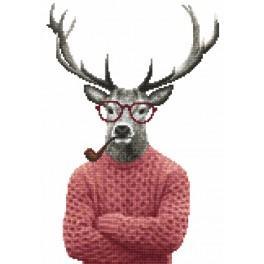 Předtištěná kanava - Hipsterský jelen