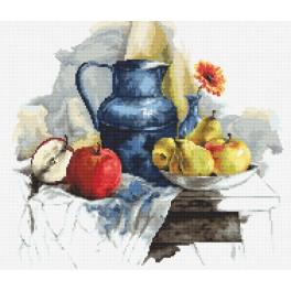 ZN 8719 Vyšívací sada s mulinkou a podiskem - Zátiší s ovocem